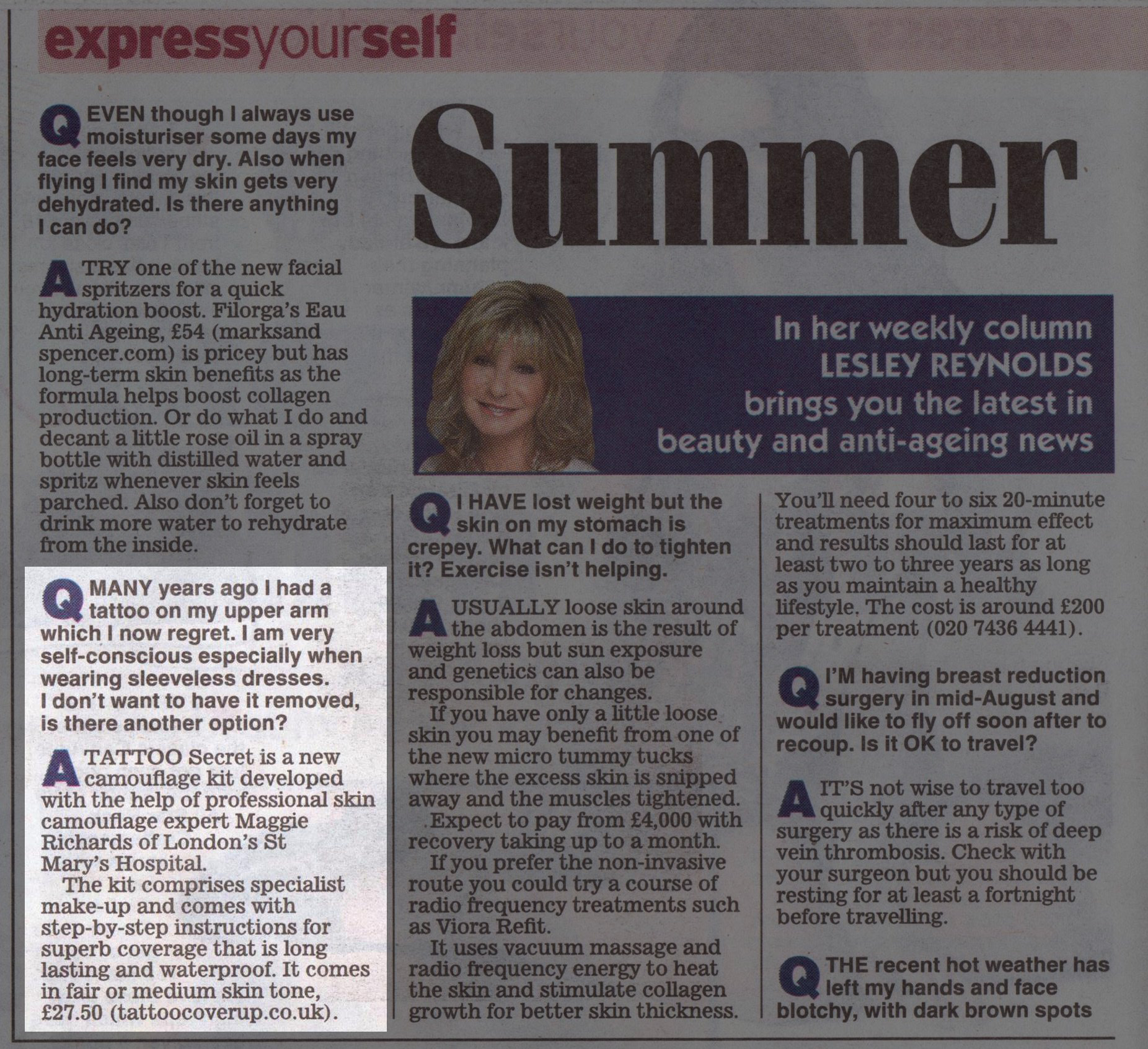Tattoo Secret Reviewed by the Daily Express 8 Aug 2013