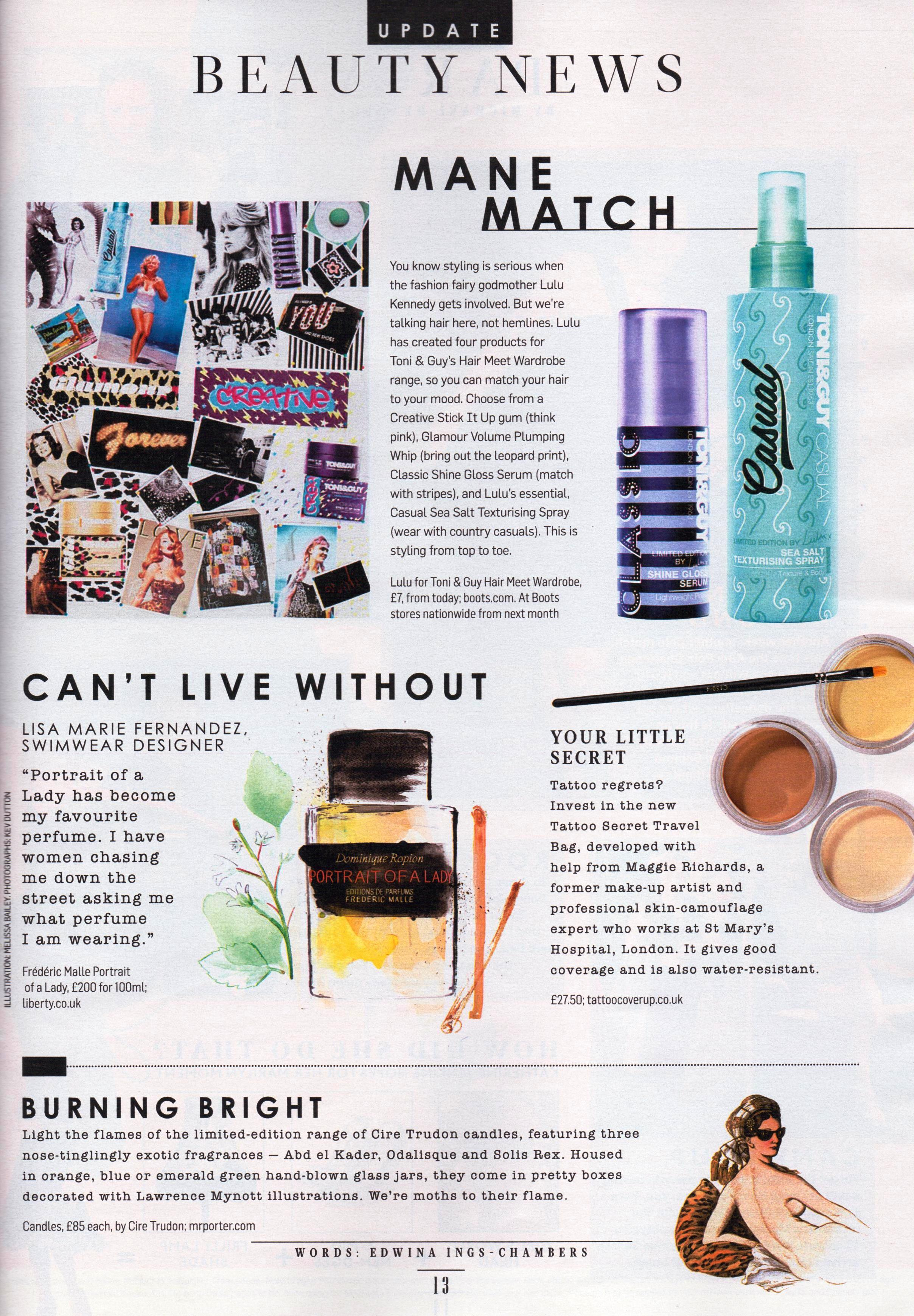 Tattoo Secret Review Sunday Times Style 18th Aug 2013
